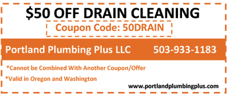$50 Coupon of Portland Plumbing Plus